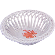 Herend Chinese Bouquet Porcelain Strand Small Basket Asprey Label