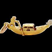 SOLD Vintage 18K Gold 3D Venezia Venice Italy Gondola Charm