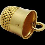SALE Vintage 14K Gold Sewing Thimble Charm