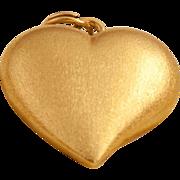 Vintage 18 Karat Gold Heart Pendant