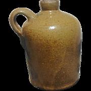 Texas Meyer Pottery Stoneware Jug Rare Quart Size Leon Slip Glaze