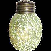 Scarce Victorian Art Glass Canary * Vaseline Shaker Northwood * Buckeye * Model Flint Company