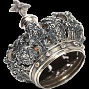 SOLD Exquisite Antique Nineteenth Century Italian Couronne de Vierge with Semi-Precious Stones