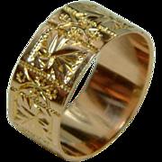 SALE Quality Victorian Birmingham 1899  9ct Rose Gold Wedding Band Ring.