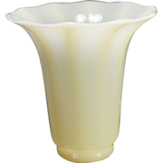 Frederick Carder Signed Steuben Ivory Glass Shape No. 913 Vase