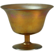 Louis Comfort Tiffany Gold Favrile Footed Comport