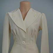 REDUCED A Gorgeous Winter White Polyester Pant Suit
