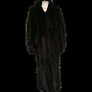 Vintage Black Mink Full Length Coat