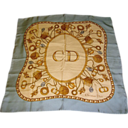 Christian Dior Vintage Silk Scarf with Tags