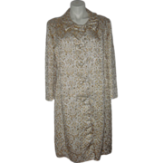 Vintage Opera Coat Shimmering Mother of Pearl 1950's