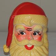 Vintage Revolving Santa Head Music Box