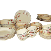 Homer Laughlin Virginia Rose Dinnerware Dishes 44 Pc