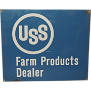 USS Farm Products Dealer Metal Advertising Sign