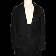 Victorian Edwardian Long Tail Wool & Silk Tuxedo Hart Schaffner Marx