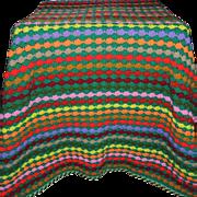 SOLD Handmade Crochet Knit Blanket Coverlet