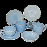Jeannette Blue Dephite Cherry Blossom Dish Set