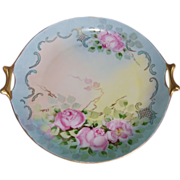Hutschenreuther Bavaria Porcelain Hand Painted Charger Cake Plate Tray