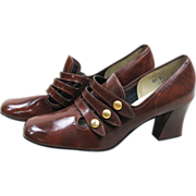 1960's Swingers Brown Synthetic Leather Shoes
