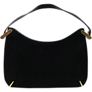 SALE 1960's Susan Gail Black Suede Handbag