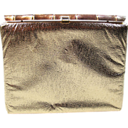 SALE Vintage 1960's Clutch / Evening Bag With Bamboo Frame