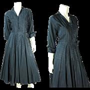 SALE Vintage 1950's Suzy Perette Little Black Cocktail Dress