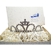SALE 1960's Vintage Cote's Rhinestone Tiara With Original Box