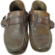 SOLD 1970's Vintage Handmade Leather Men's Hippie Ring-Boot Moccasins
