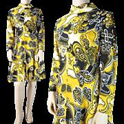 1960's Vintage Handkerchief / Bandana Print Dress