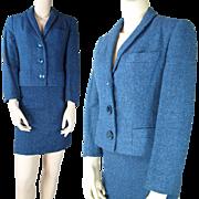 SALE Vintage 1960's Myron Louis Wool Skirt Suit