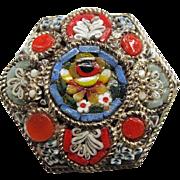 SALE Vintage Italian Micro Mosaic Brooch / Pin