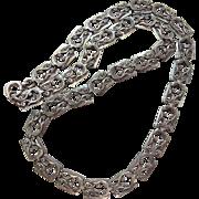 Vintage Sterling Silver Danecraft Choker Length Necklace