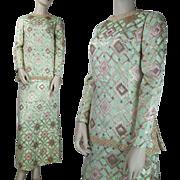 SALE Vintage 1960's Two-Piece Skirt And Top Lamé Ensemble