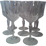 SOLD 8 Legacy Crystal Wine Glasses by Anchor Hocking