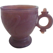 Lavender Swan Child's Ring Handle Cup ~ Atterbury