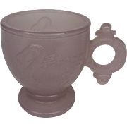 Light Pink Swan Ring Handle Child's Cup~ Atterbury