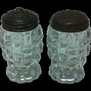 SALE EAPG Bryce Higbee Cut Log / aka Ethol / Salt & Pepper Shakers