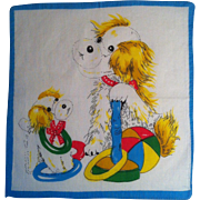 Dog & Puppy Child's Handkerchief