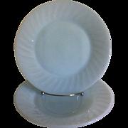 Pair Fire King Azurite Swirl Dinner Plates