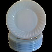 Fire King Azurite Swirl Salad Plate