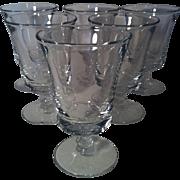 6 Century Iced Tea Goblets by Fostoria