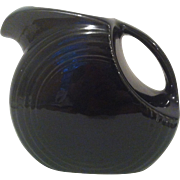 Black Fiesta Large Disk Pitcher