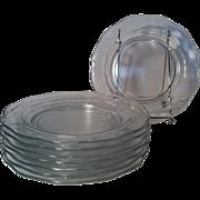 8 Fostoria Lafayette Clear Salad Plates by Fostoria