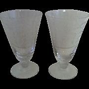 SALE Fostoria Romance Ice Tea Goblets-  set of 2