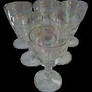SALE Fostoria Shell Pearl Claret Wine Glasses -set of 6