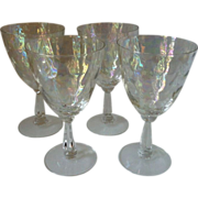 SALE Fostoria Shell Pearl Water Goblets set of 4
