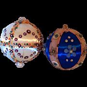 SALE 2 Handmade Sequin Christmas Ornaments