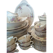 SALE 76 Piece Annette Theodore Haviland New York with Serving Pieces