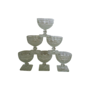 SALE Imperial glass Tradition  Square Footed Sherbets