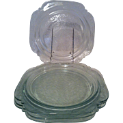 4 Indiana Recollection Madrid Clear Dinner Plates