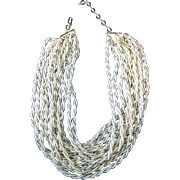 Champagne Seed Bead Necklace ~ Japan